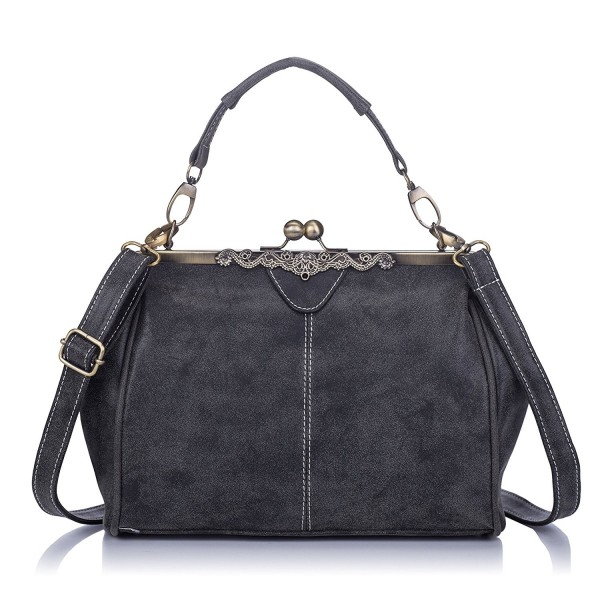 beef81189c9e Women Leather Purse Retro Fashion Top Handle Handbag Crossbody ...