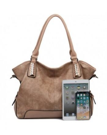 Women Handbags Hobo Pu Leather Purse Top Handle Bags Tote Large Shoulder Khaki Cw188e95kzw