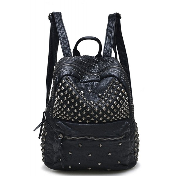 Sannea Studded Leather Backpack Fashion