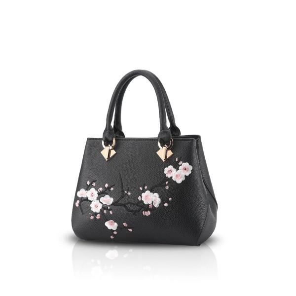 0bea52677f5e NICOLE&DORIS Casual Sweet Handbag Women Crossbody Shoulder Bag Purse Tote  Commuter PU Leather - Black - CO182EX4R99