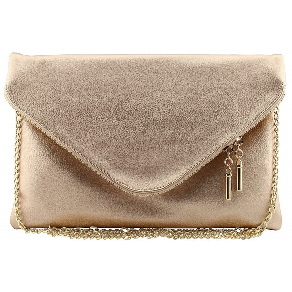 Vegan leather envelope clutch crossbody