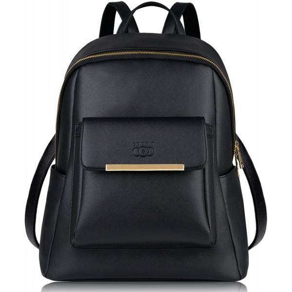 Coofit Leather Backpack Casual Daypack