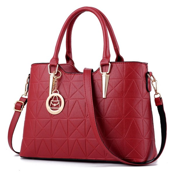 Triangle Shoulder Hardware Crossbody Burgundy