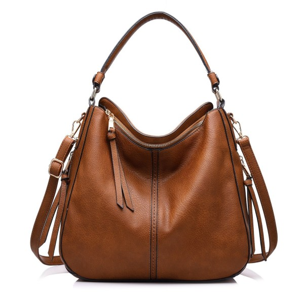 the latest price reduced the cheapest Shoulder Bags for Women Large Ladies Crossbody Bag with Tassel - Large  Light Brown - CP12MARTR6Z