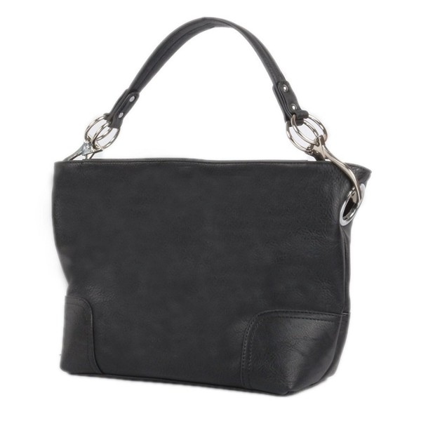 Womens Shoulder Hobo Clasps Black