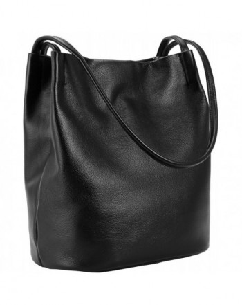 Leather Shoulder Bag Bucket Bag Hobo Lady Handbag and Purse Fashion ... bfdec16d3c8f4