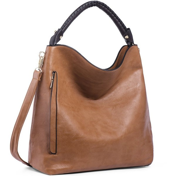 6c8e7158b7 ... Women Handbags PU Leather Purse for Ladies Hobo Shoulder Bags Large  Capacity - Camel - CO186L5GXTQ. IYAFFA Handbags Designer Shoulder Satchels
