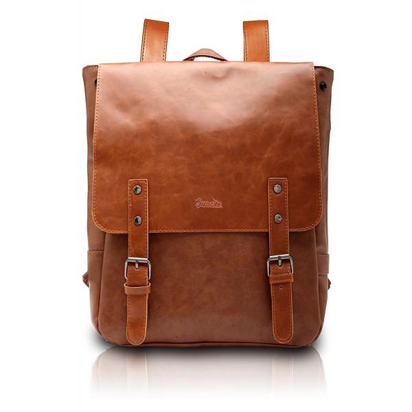 Leather Like Vintage Womens Backpack School