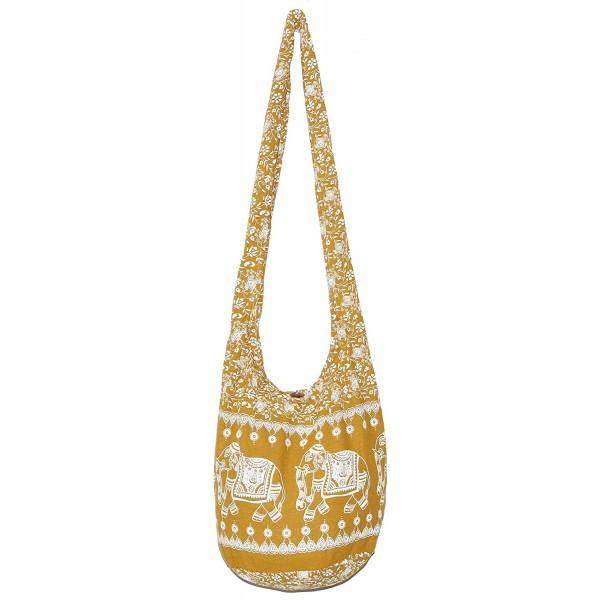 4db9a68722f4 Vintage Hobo Hippie Crossbody Bag Purse with 33 inch - Yellowmustard ...