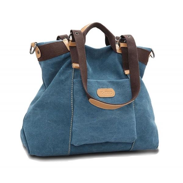e6fd443992f5 ... Vintage Hobo Canvas Handbags Top Handle Tote Crossbody Shopping Bags. -  Blue - CY183R0TL20. WLE Shoulder Handbags Crossbody Shopping