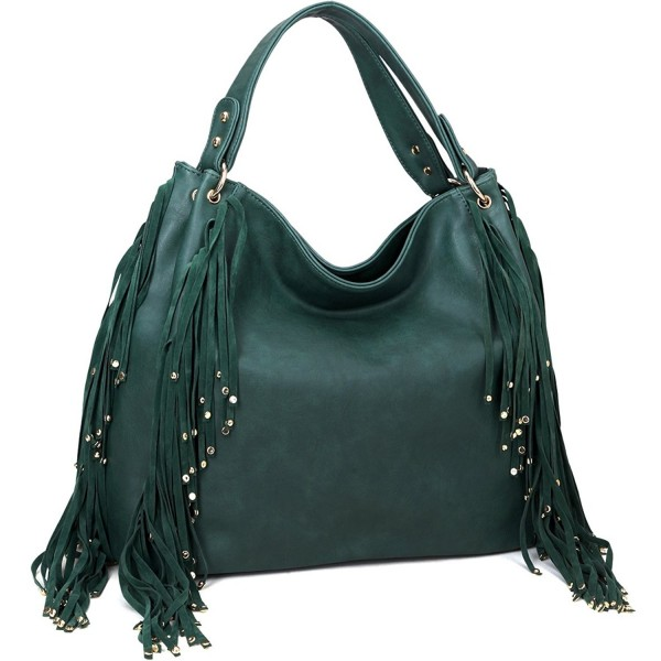 ... Floral Print Shoulder Bag Tote Satchel Purse - 5037-green -  CJ122LOJH5X. Dasein Fringe Studded Faux Leather 2b76d81245a26
