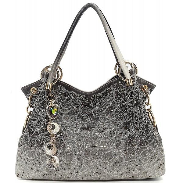 Womens Fashion Designer Pu Leather Bag Top Handle Tote Purse ... 9d9b60f326291