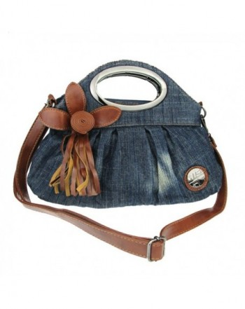 Donalworld Women Flower Jeans Handbags