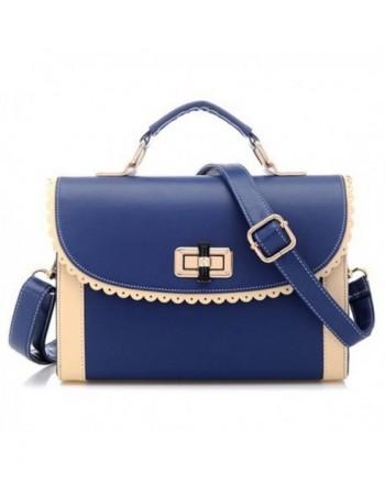 Womens Messenger Handbag Shoulder Deepblue