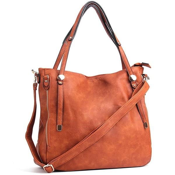 Women Handbags Pu Leather Tote Shoulder Bags Satchel Zipper Cross Body Brown Cy17ywmskqo