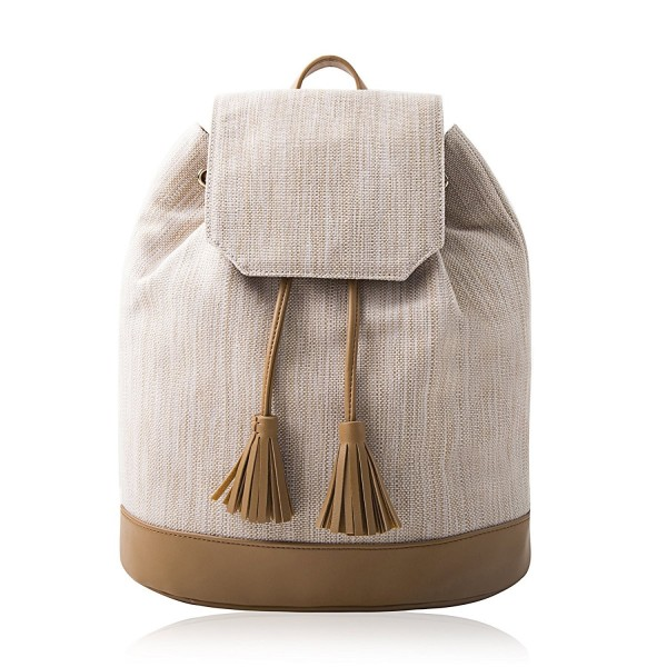 Lovely Tote Co Backpack Natural