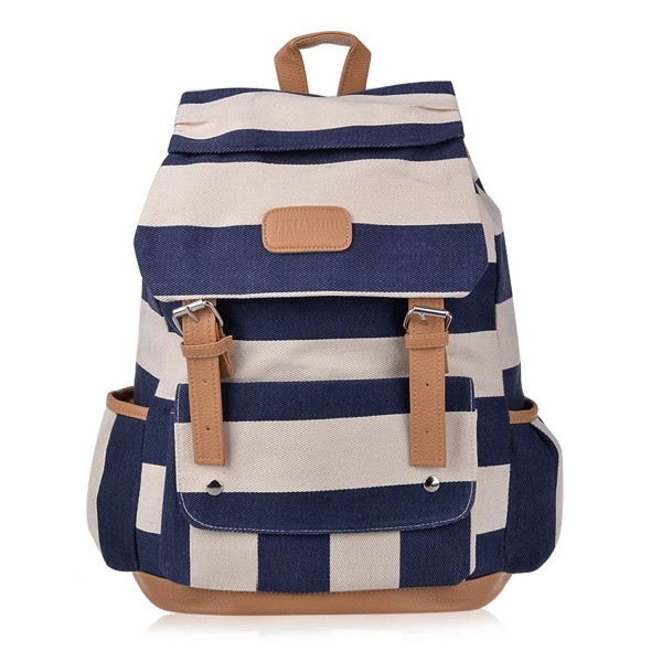 Vbiger Backpack Knapsack Striped Pattern