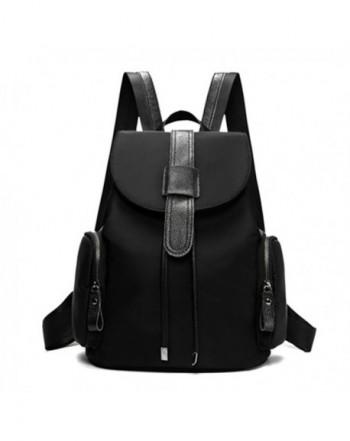 7d4114bd14 Nylon Small Backpack Purse for Women   Girls Drawstring Daypack - Black-1 -  C417AZXLU74