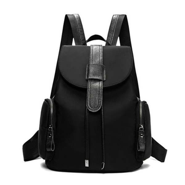 Toupons Backpack Drawstring Daypack Black 1