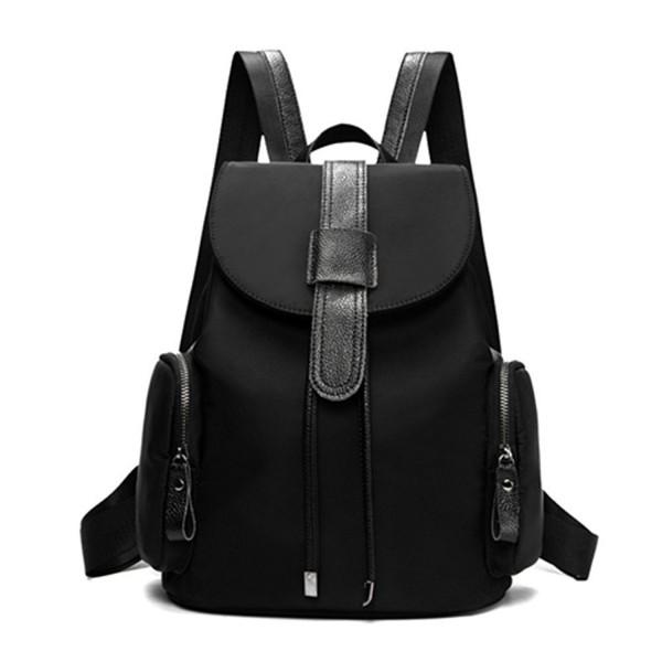284f5757dabe Nylon Small Backpack Purse for Women & Girls Drawstring Daypack - Black-1 -  C417AZXLU74