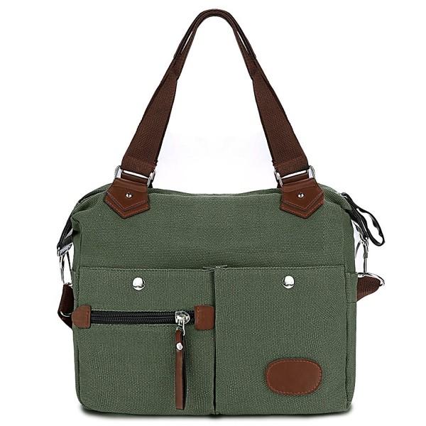 Canvas Handbag with Pockets Women Satchel Handbag Casual Crossbody ... d9c0ecca80c69