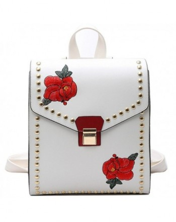 MSXUAN Fashion Embroidered Backpack Shoulder
