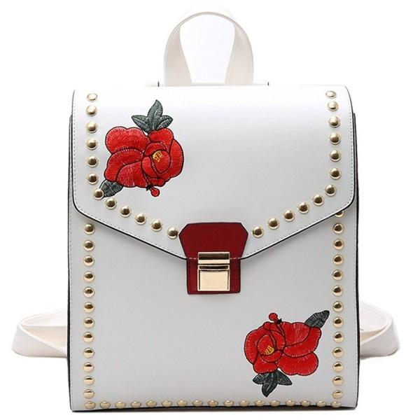 MSXUAN Fashion Embroidered Backpack Shoulder