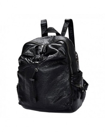 FanCarry Backpack Shoulder Earphone Black leather
