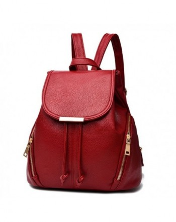 Fashion School Leather Backpack Shoulder