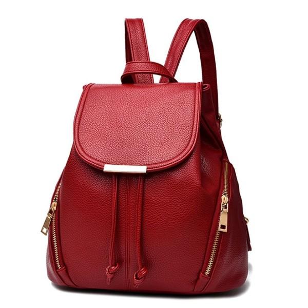 Fashion School Leather Backpack Shoulder
