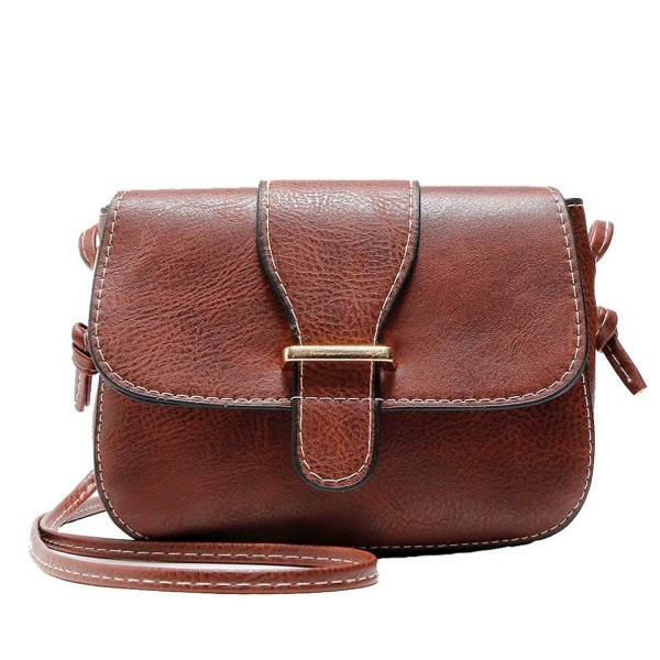 05cffaf51be3 Mini Women Cross Body Shoulder Bags Fashionable Casual Handbags Leather Bag  for Teen Girls W by - Brown - CW185XY8L77