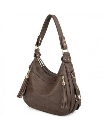 UTO Handbag Leather Shoulder Coffee