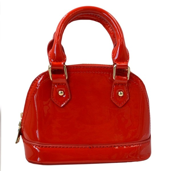 Around Patent Satchel Handle Handbags