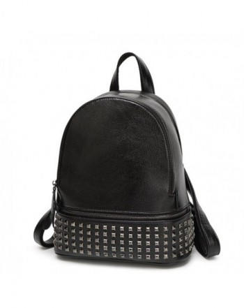Hoxis Studded Leather Backpack Shoulder