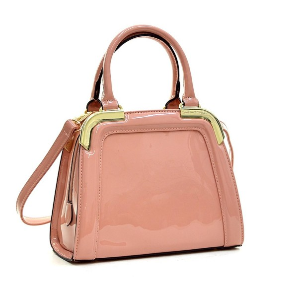 Dasein Leather Satchel Handbags Shoulder