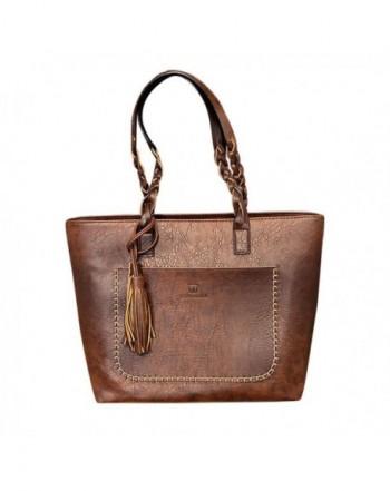 AOJIAN Leather Tassels Shoulder Messenger