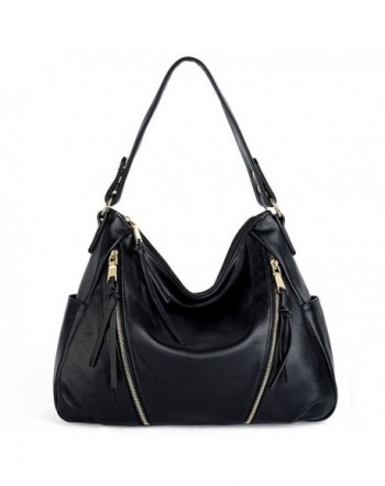 UTO Handbag Leather Double Shoulder