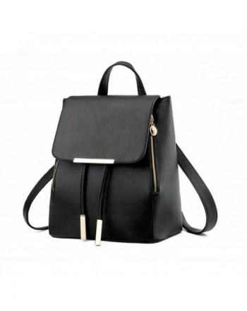 NAGU Leather Backpack Daypack Schoolbag
