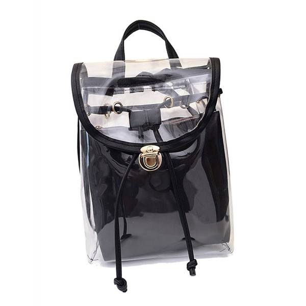 Jesdo Drawstring Backpack Transparent Handbag