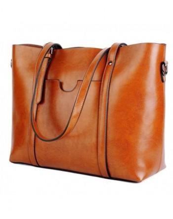 5fc94ab751d9 Women s Vintage Style Soft Leather Work Tote Large Shoulder Bag - 1 ...