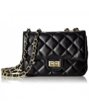 Women s Leather Fashion Handbag Quilting Envelope Cross Body Shoulder Bag -  Black - C812FKE9DPP caec00817a446