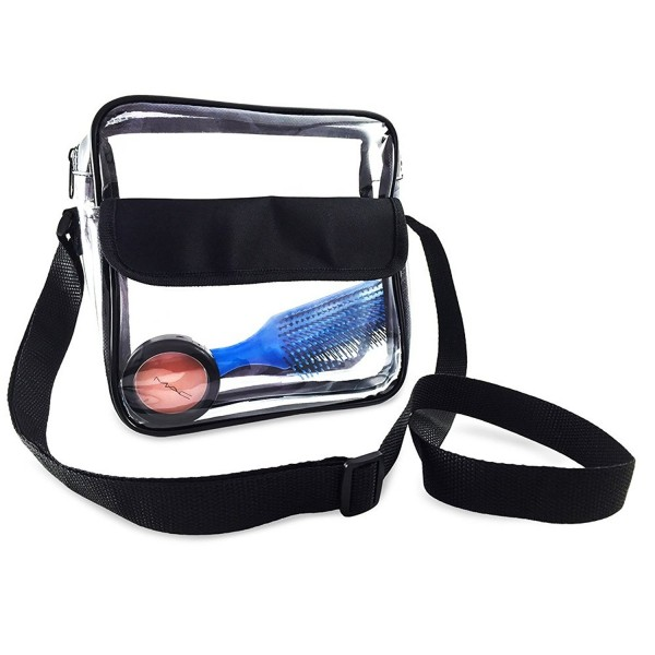 Event Stadium Roved Clear Messenger Bag Shoulder Transpa Purse With Adjule Strap Black C9127zl24fh