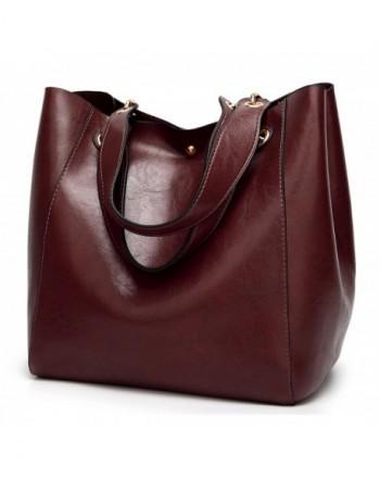 Molodo Leather Shoulder Handbag Coffee