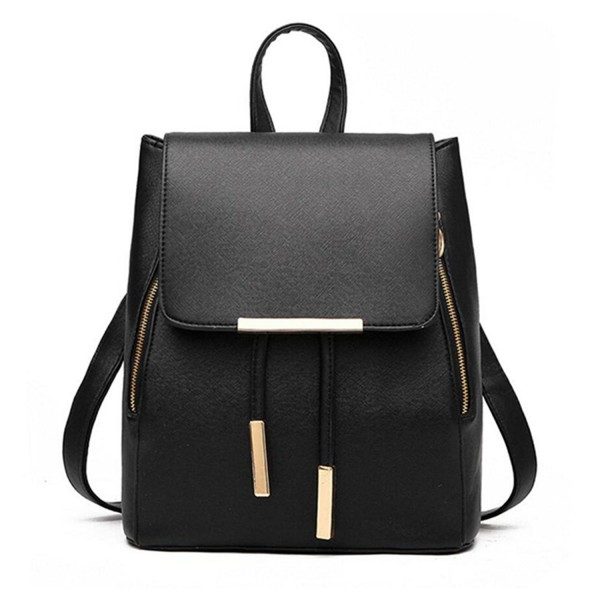 Backpack Leather Capacity Rucksack Shoulder