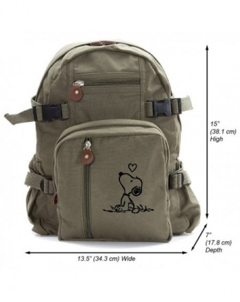 Snoopy Heavyweight Canvas Travel Backpack