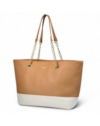 Vbiger Handbags Leather Shoulder Orange