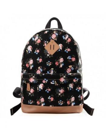 DouGuYan Women Girl Canvas Shoulder School Bag Backpack Travel Satchel Rucksack