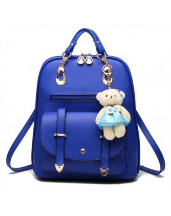 Backpack Leather Multi Way Cartoon Pendant
