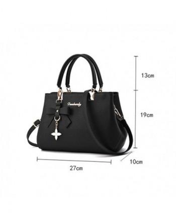 Women Fashion Handbags Designer Purses Ladies Tote Bags for Women PU  Leather Shoulder Bags Crossbody Bag - Black - C9186WQGG7C