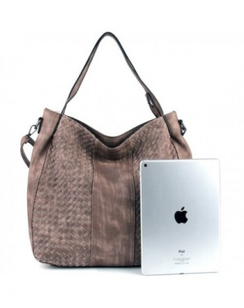 7c62e04d00 Women Handbags Top-Handle Fashion Hobo Tote Bags PU Leather Shoulder ...